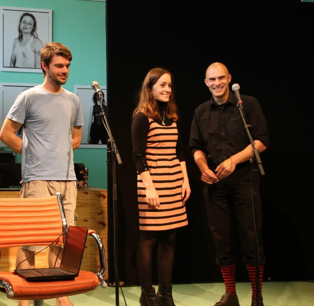 von links: Waldemar Rompczyk, Myriam Kaskel und Sebastian Stützer