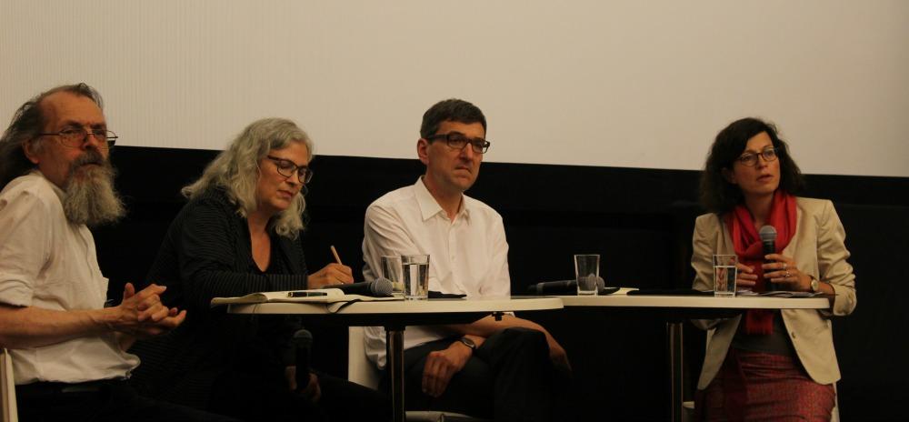 Von Links: Hans Dieffenbacher, Elisa Klapheck, Michael Bongardt, Jacqueline Boysen.